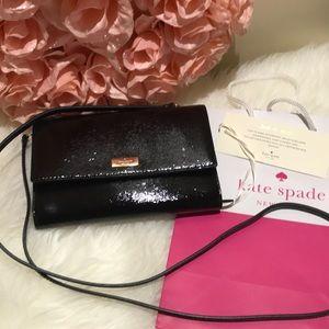 Kate Spade ♠️ black leather convertible bag nwt